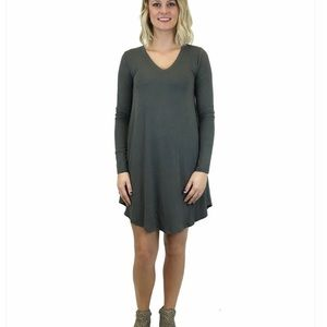 Z Supply Gray Long Sleeve Tunic Dress Size S